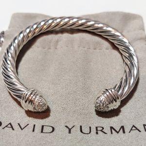 David Yurman Diamond pave 7mm cable bracelet m 6.2
